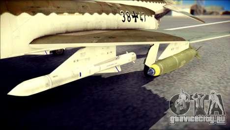 McDonnell Douglas F-4F Luftwaffe для GTA San Andreas вид справа