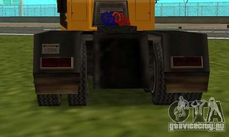 PS2 RoadTrain для GTA San Andreas вид сзади слева