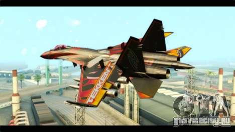 SU-35 Flanker-E Tekken для GTA San Andreas вид слева