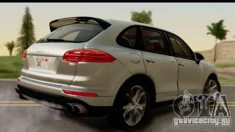 Porsche Cayenne S 2015 для GTA San Andreas вид слева
