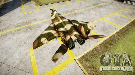 МиГ-29 для GTA 4 вид сзади слева