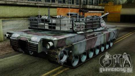 M1A2 Abrams Woodland Blue Camo для GTA San Andreas вид слева