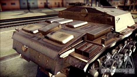 StuG III Ausf. G для GTA San Andreas вид сзади
