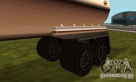 PS2 Petrol Trailer для GTA San Andreas вид сзади слева