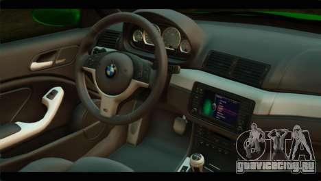 BMW M3 E46 Stock для GTA San Andreas вид справа