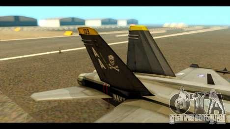FA-18 Jolly Roger Black для GTA San Andreas вид сзади слева