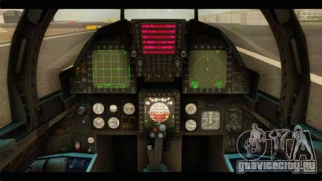 McDonnell Douglas F-15E Strike Eagle для GTA San Andreas вид сзади
