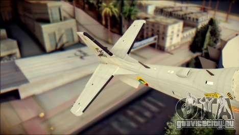 EMB 314 Super Tucano Colombian Air Force для GTA San Andreas вид сзади слева
