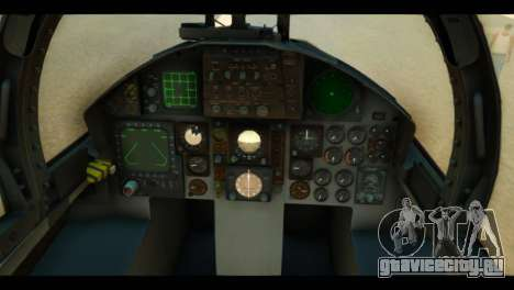 F-15C Air Combat для GTA San Andreas вид сзади