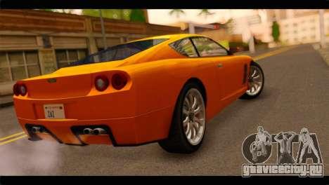 GTA 5 Dewbauchee Super GT для GTA San Andreas вид слева