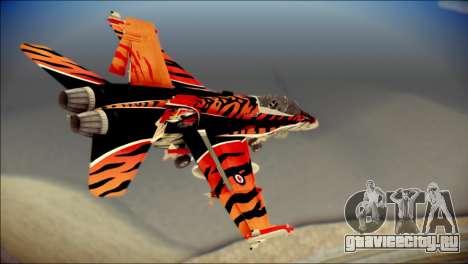 FA-18D Hornet RCAF Tigermeet для GTA San Andreas вид слева