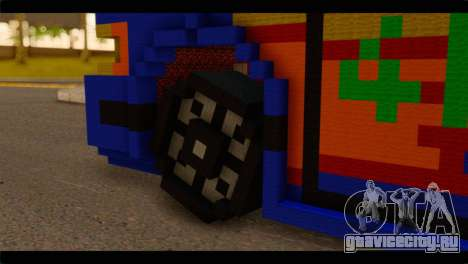 Minecraft Elegant для GTA San Andreas вид сзади слева