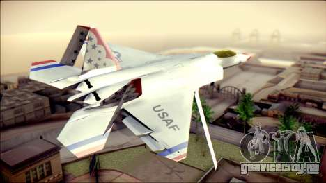 F-22 Raptor Thunderbirds для GTA San Andreas вид слева