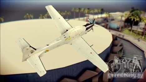 EMB 314 Super Tucano Colombian Air Force для GTA San Andreas вид слева