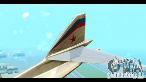 TU-160 Blackjack для GTA San Andreas вид сзади слева