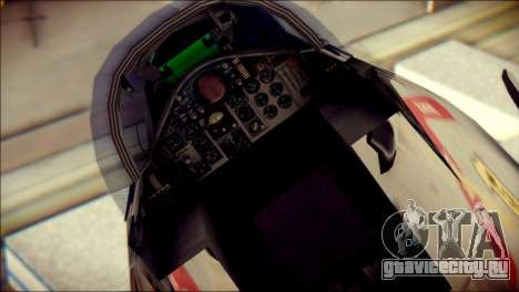 McDonnell Douglas F-4B Phantom II для GTA San Andreas вид сзади