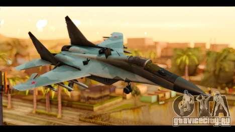MIG-29 Fulcrum для GTA San Andreas
