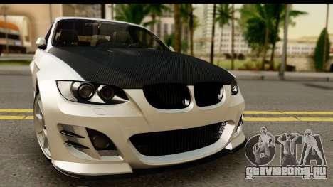BMW M3 E90 Hamann для GTA San Andreas вид сзади слева