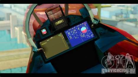 SU-35 Flanker-E Tekken для GTA San Andreas вид сзади