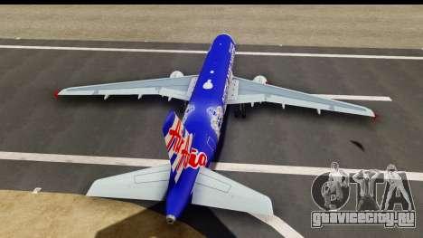 Airbus A320-200 AirAsia Queens Park Rangers для GTA San Andreas вид изнутри