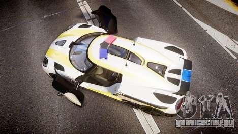 Koenigsegg Agera 2013 Police [EPM] v1.1 Low Qual для GTA 4 вид справа