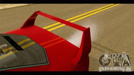 Turismo F40 для GTA San Andreas вид справа