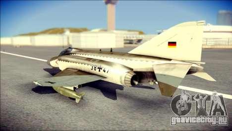 McDonnell Douglas F-4F Luftwaffe для GTA San Andreas вид слева
