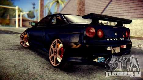 Nissan Skyline GTR V Spec II v2 для GTA San Andreas вид слева