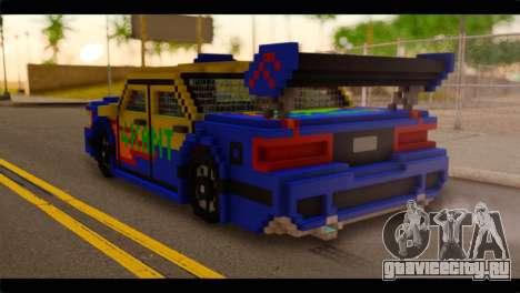 Minecraft Elegant для GTA San Andreas вид слева
