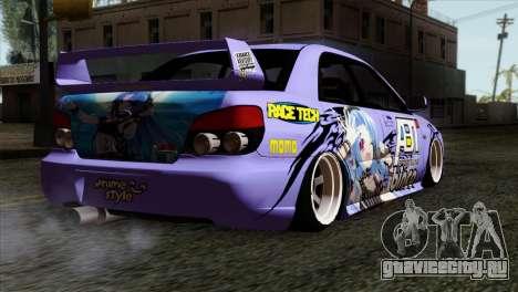 Subaru Impreza WRX STI 5pb Itasha для GTA San Andreas вид слева