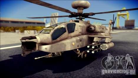 AH64 Apache MOHW для GTA San Andreas