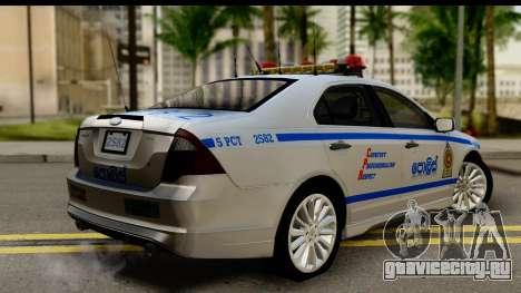 Ford Fusion 2011 Sri Lanka Police для GTA San Andreas вид слева