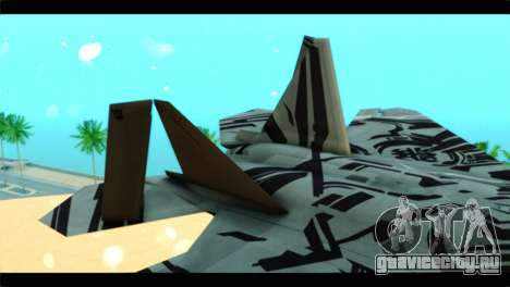 F-22 Raptor Starscream для GTA San Andreas вид сзади слева