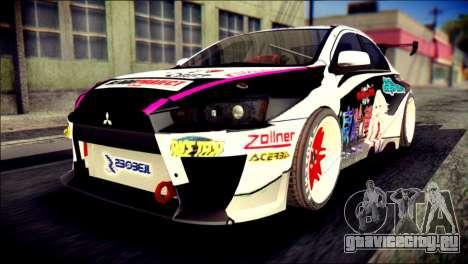 Mitsubishi Lancer Evolution X Juuzo Itasha для GTA San Andreas