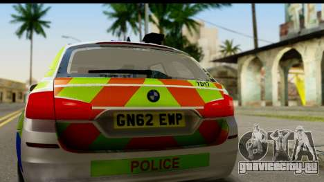 BMW 530d Kent Police RPU для GTA San Andreas вид справа
