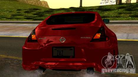 Nissan 370Z Nismo 2010 для GTA San Andreas вид сбоку