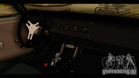 Dodge Charger RT 1970 для GTA San Andreas вид сзади