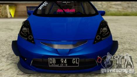 Honda Fit 2009 JDM Modification для GTA San Andreas вид сзади слева