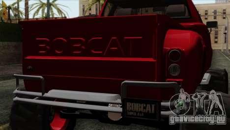 Bobcat Fx4 для GTA San Andreas вид сзади