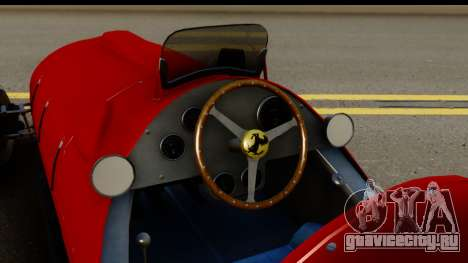Ferrari 375 F1 для GTA San Andreas вид изнутри