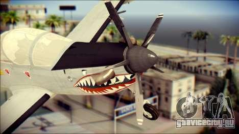 EMB 314 Super Tucano Colombian Air Force для GTA San Andreas вид сзади