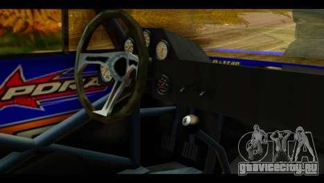 Chevy Nova NOS DRAG для GTA San Andreas вид справа
