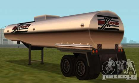 PS2 Petrol Trailer для GTA San Andreas вид справа