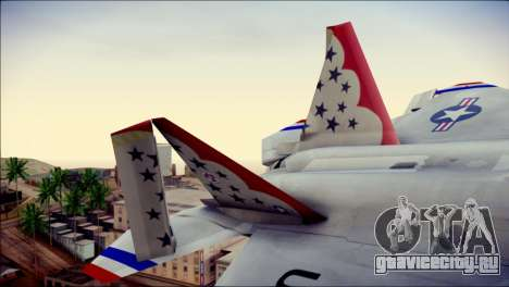 F-22 Raptor Thunderbirds для GTA San Andreas вид сзади слева