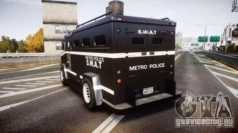GTA V Brute Police Riot [ELS] skin 5 для GTA 4 вид сзади слева