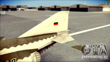 McDonnell Douglas F-4F Luftwaffe для GTA San Andreas вид сзади слева