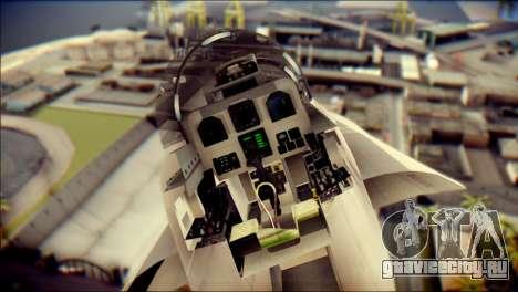 F-18D Swiss Air Force для GTA San Andreas вид сзади