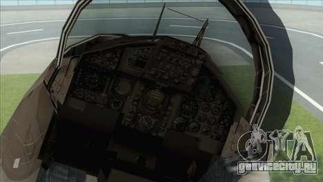 McDonnell Douglas F-15D Philippine Air Force для GTA San Andreas вид сзади