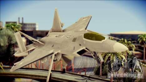 F-22 Gryphus, Falco and Antares для GTA San Andreas вид сзади