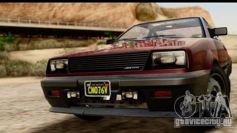 GTA 5 Dinka Blista Compact для GTA San Andreas вид сзади слева